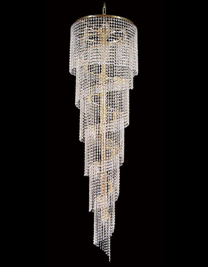 Asfour Crystal - Rosetta 17 Light Spiral Asfour Crystal Chandelier