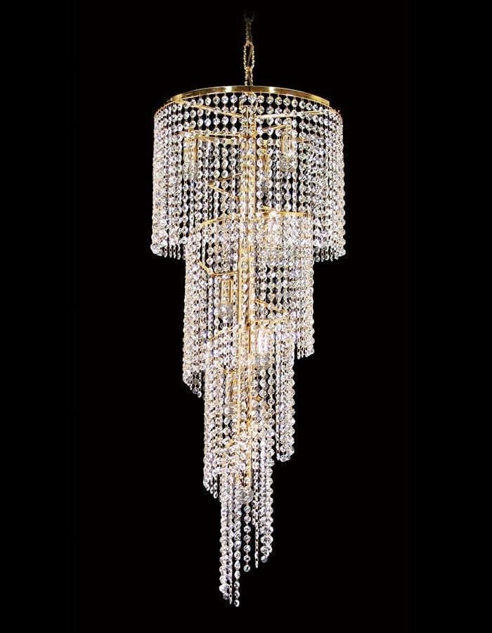 Asfour Crystal - Rosetta Eight Light Spiral Asfour Crystal Chandelier