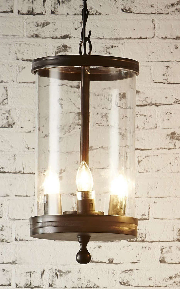 Carnaby Glass Hanging Lamp in Bronze
