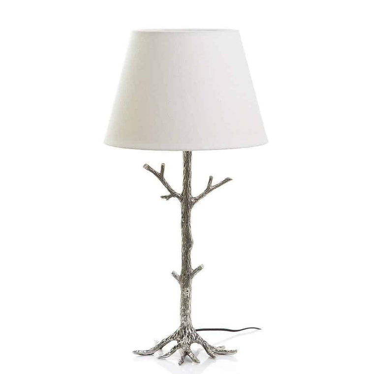 Arbre Table Lamp Base Antique Silver