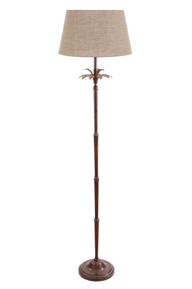 Casablanca Floor Lamp Base Brown