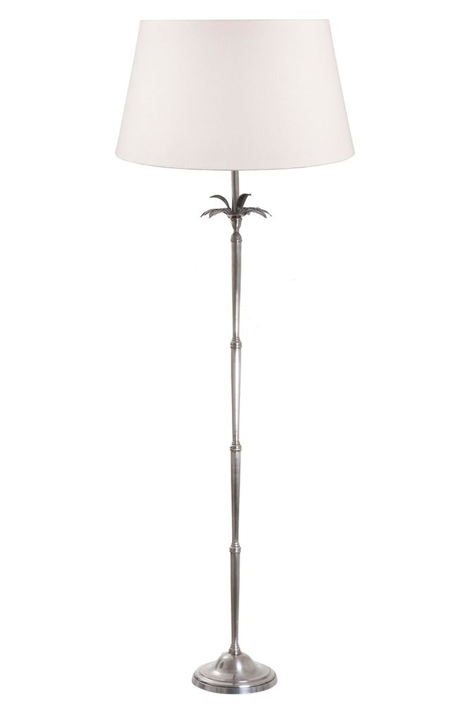 Casablanca Floor Lamp Base Silver