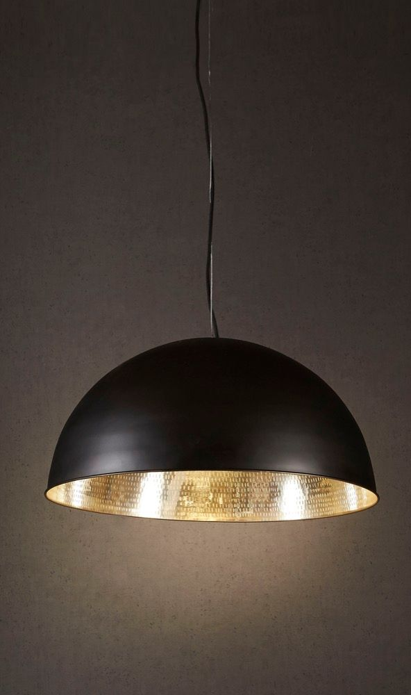 Alfresco Dome Ceiling Lamp Blk Silver