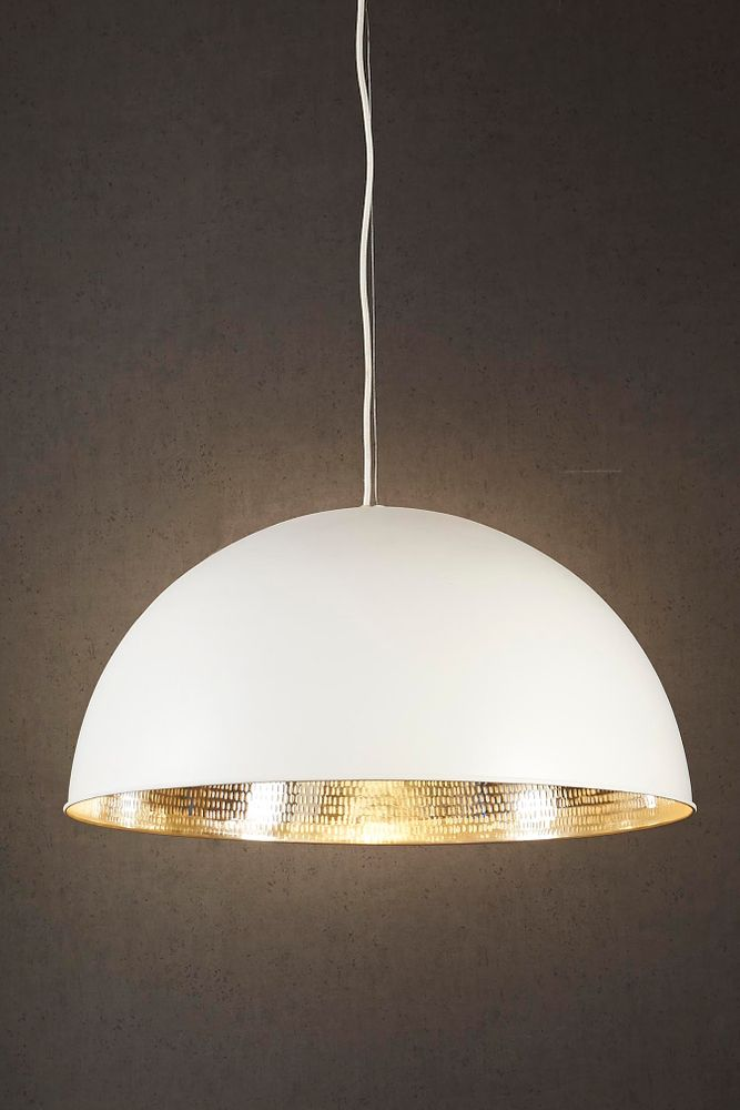 Alfresco Dome Ceiling Lamp Wht Silver