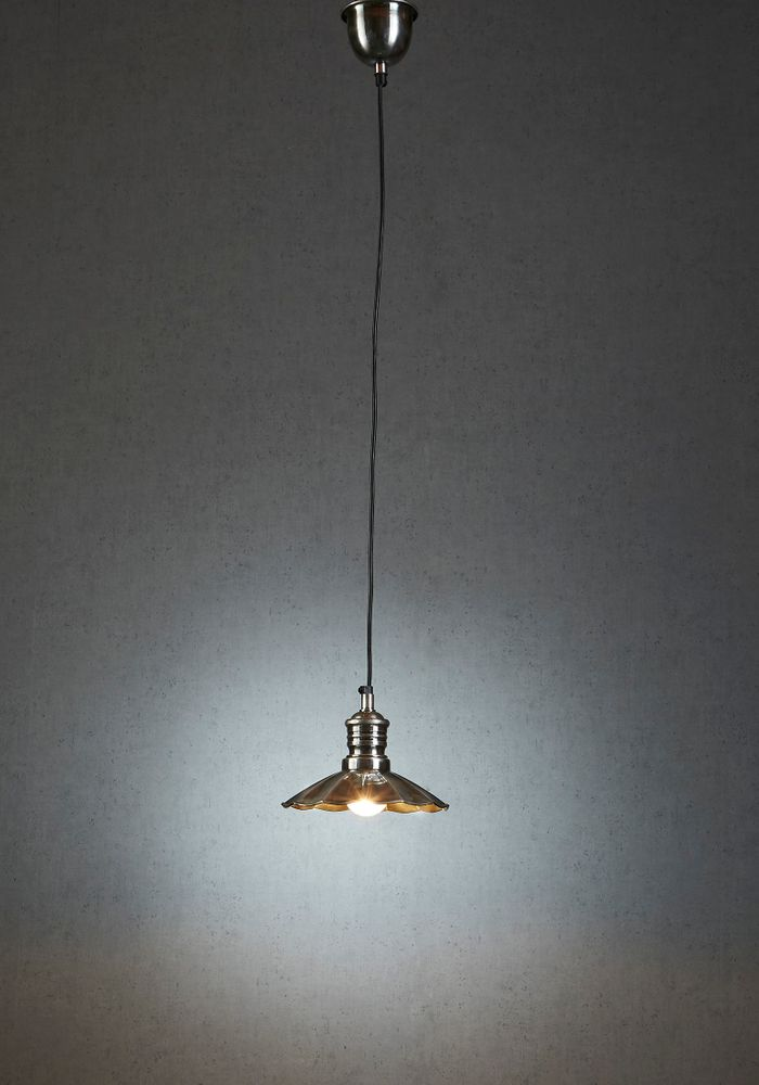 Baltic Hanging Lamp Antique Silver