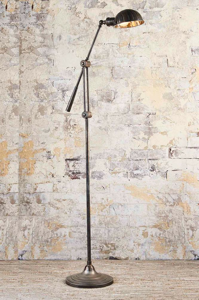 Calais Floor Lamp Antique Silver