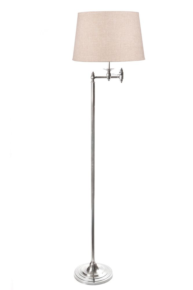 Macleay Floor Lamp Base Silver