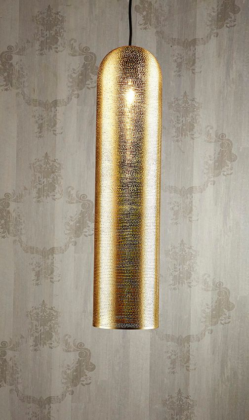 Moroccan Pipe Ceiling Lamp Brass