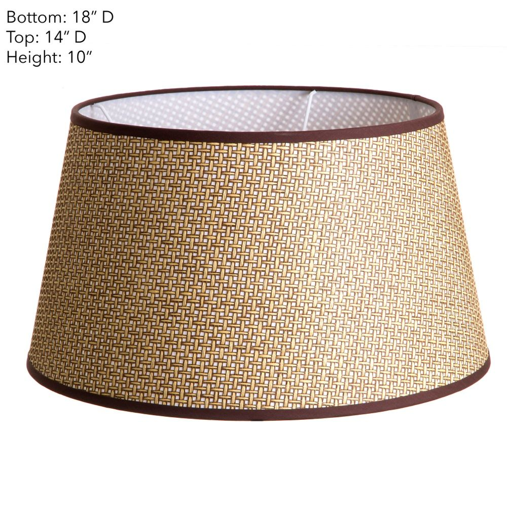 18 x 14 x 10 Brown Basket Weave Shade