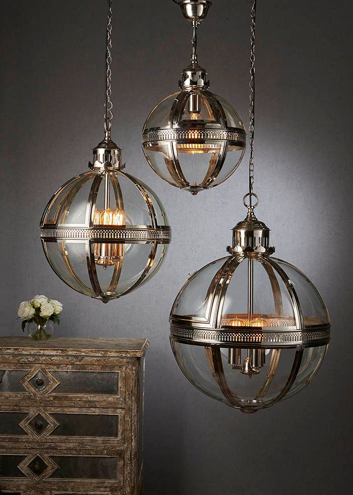 Saxon Pendant Lamp Med Shiny Nickel