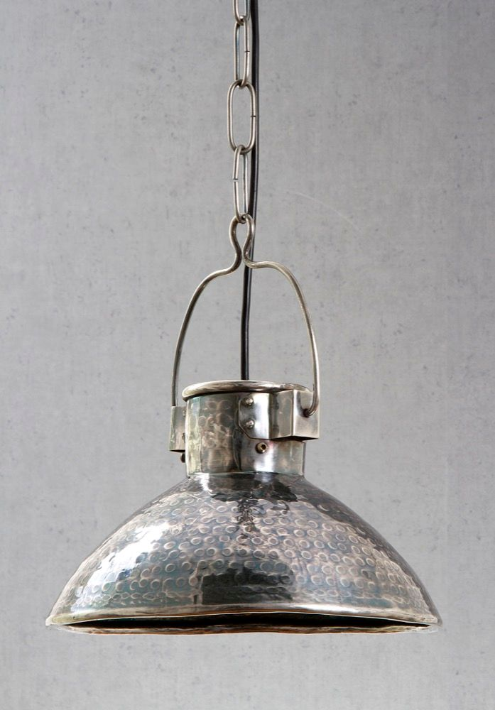 Ashton Hanging Lamp in Antique Silver