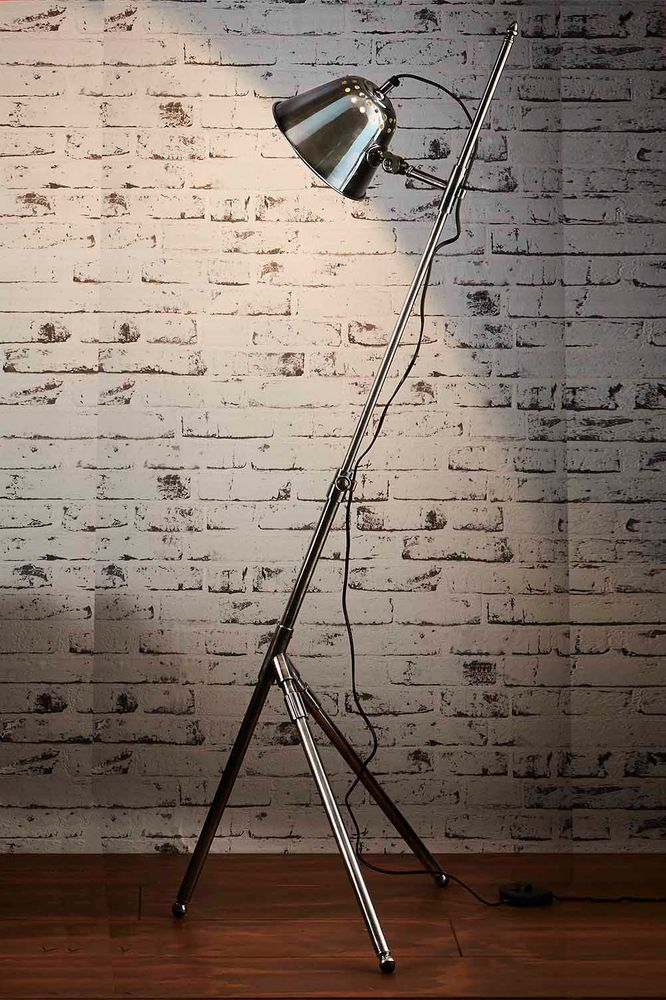 Belvedere Floor Lamp Antique Silver