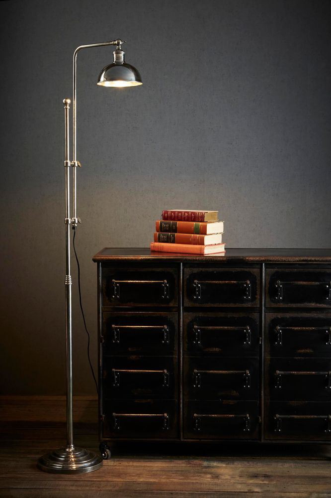 Michigan Floor Lamp Antique Silver