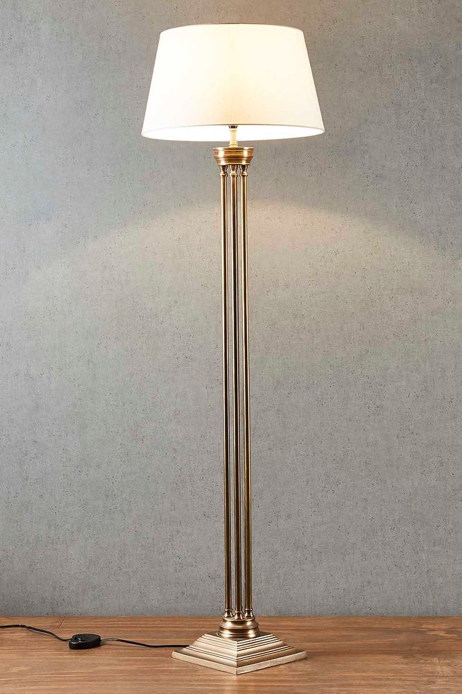 Hudson Floor Lamp Base Brass