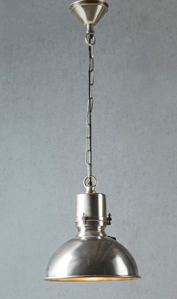 Augusta Large Hanging Lamp in Silver