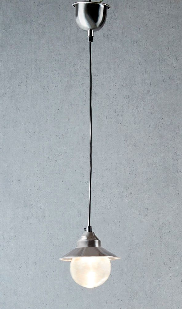 Auckland hanging lamp in antique silver