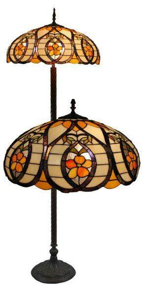 Floor Lamp - Apricot Tiffany Floor Lamp
