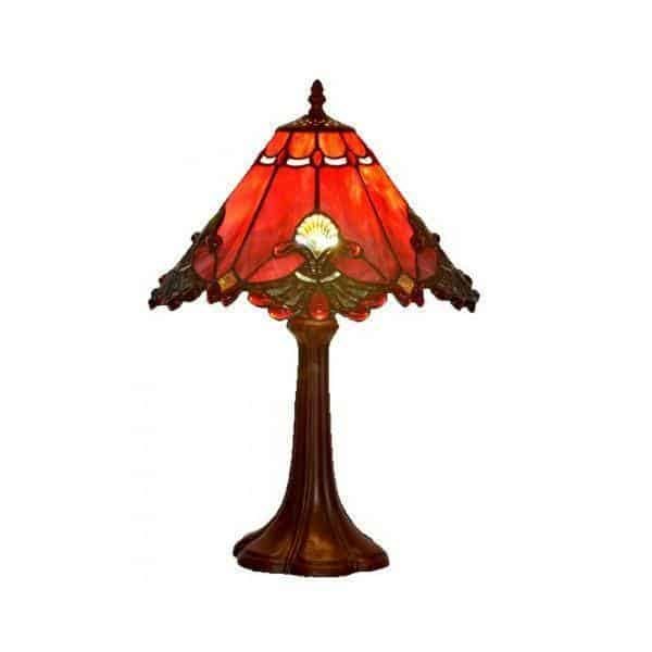 Floor Lamp - Flame Red Tiffany Floor Lamp