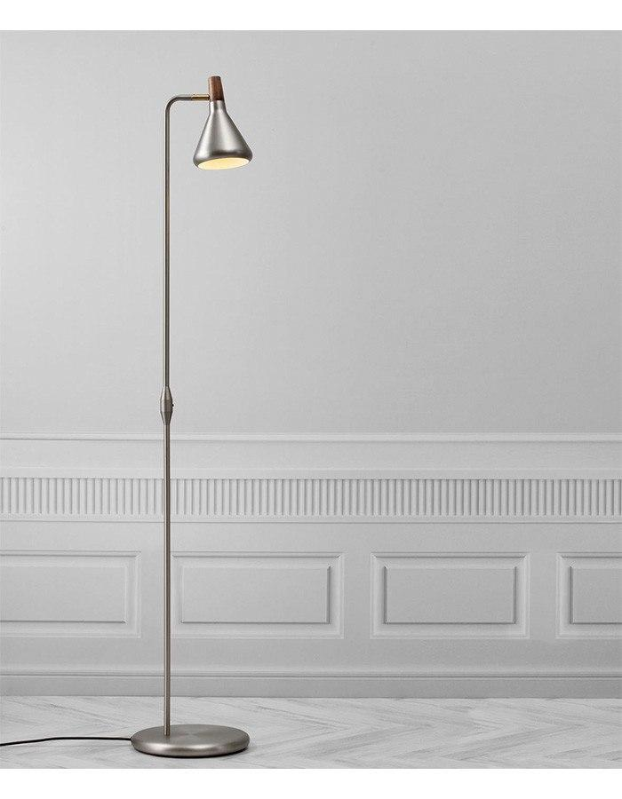 Float brushed steel floor lamp by nordlux chic chandeliers float brushed steel floor lamp mozeypictures Image collections