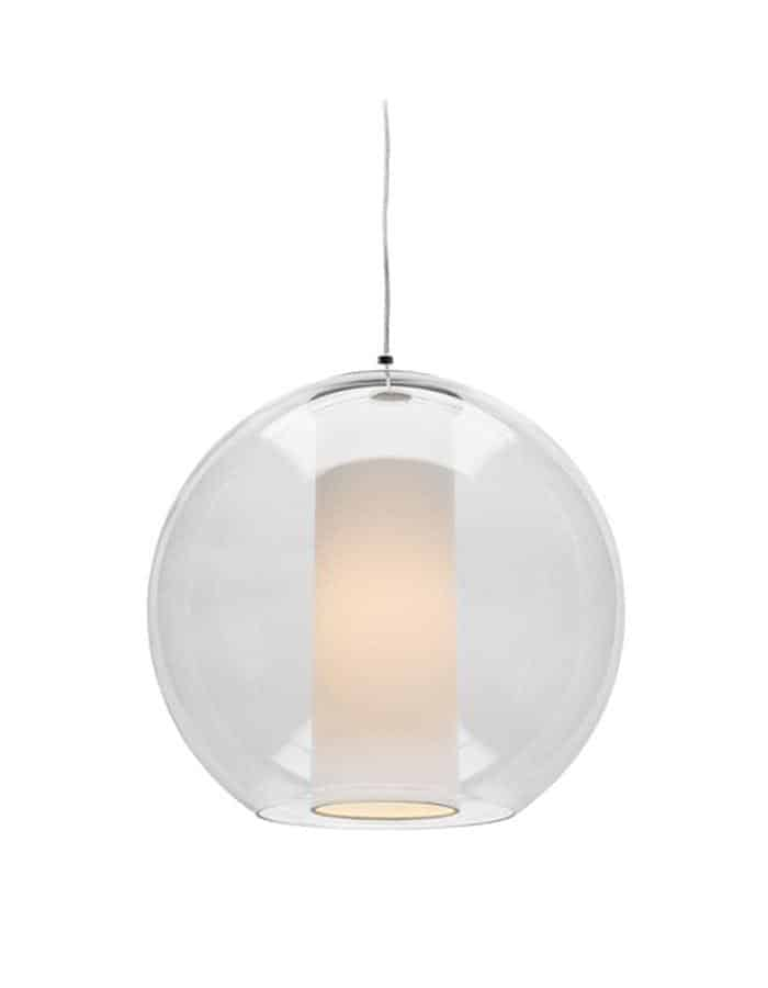 Laurent Glass Pendant Light Large by Cougar Lighting