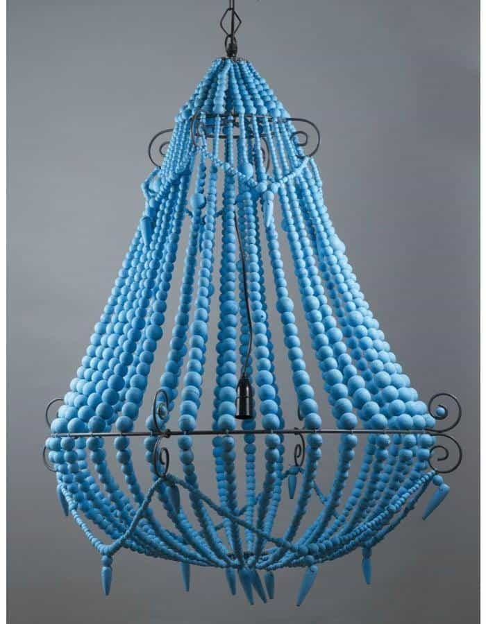 Modern - Beaded Chandelier Large Blue