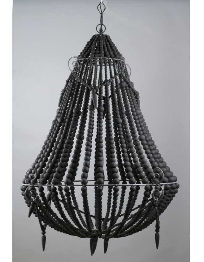 Modern - Beaded Chandelier Large Charcoal