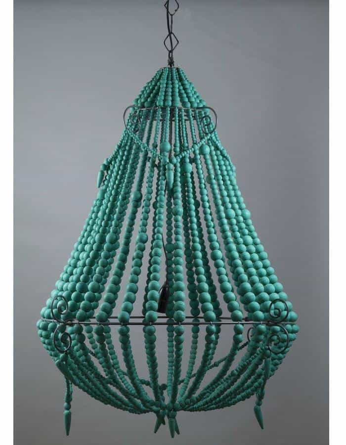 Modern - Beaded Chandelier Large Green