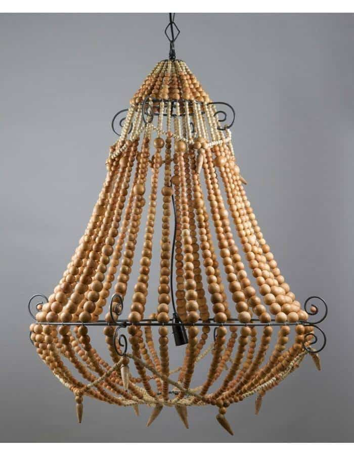 beaded chandelier large natural chic chandeliers
