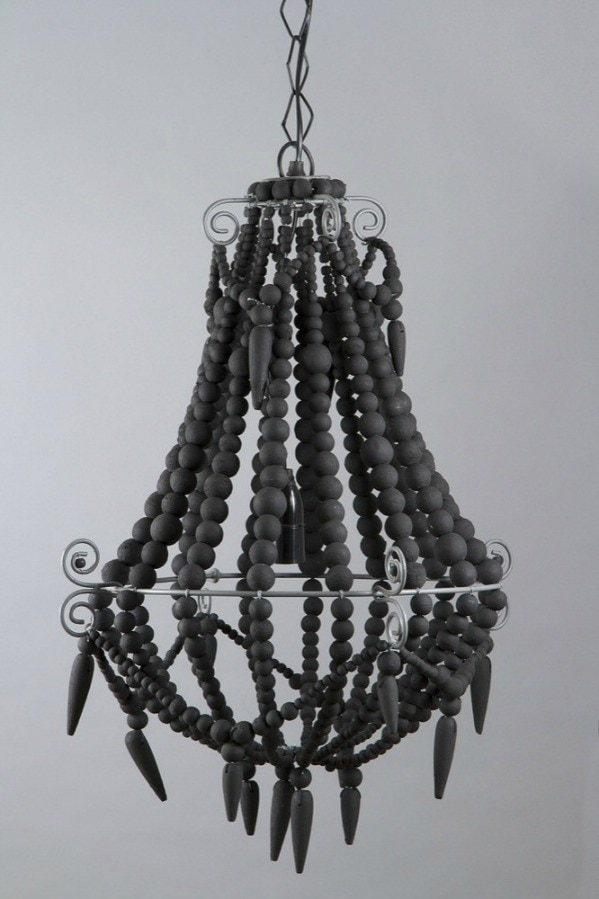 Modern - Beaded Chandelier Small Charcoal