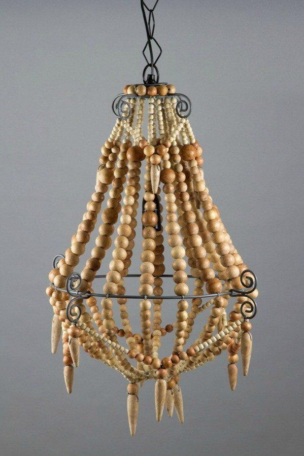 Modern - Beaded Chandelier Small Natural