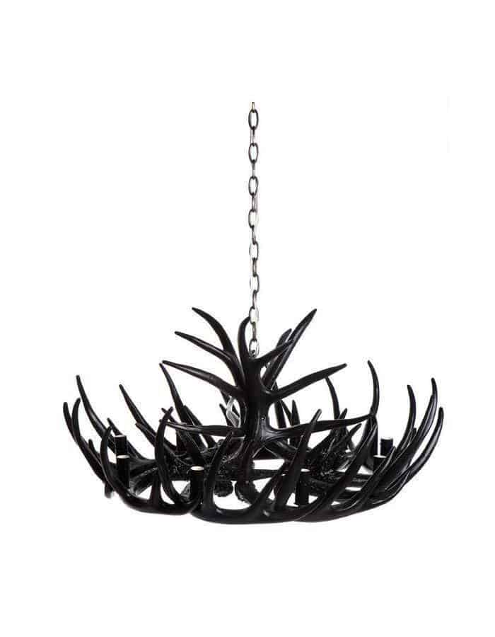 Modern - Black Antler Chandelier Nine Light