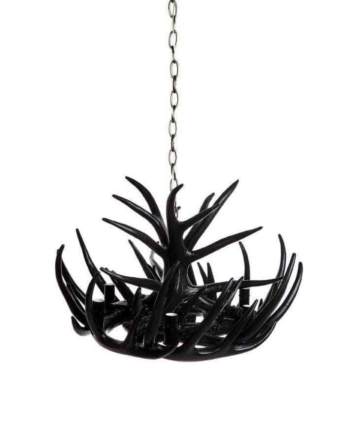 Modern - Black Antler Chandelier Six Light