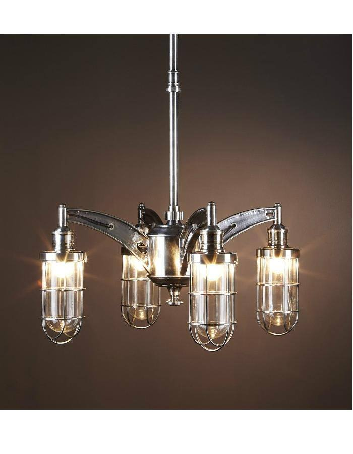 Chrysler chandelier new york industrial style chic Industrial style chandeliers