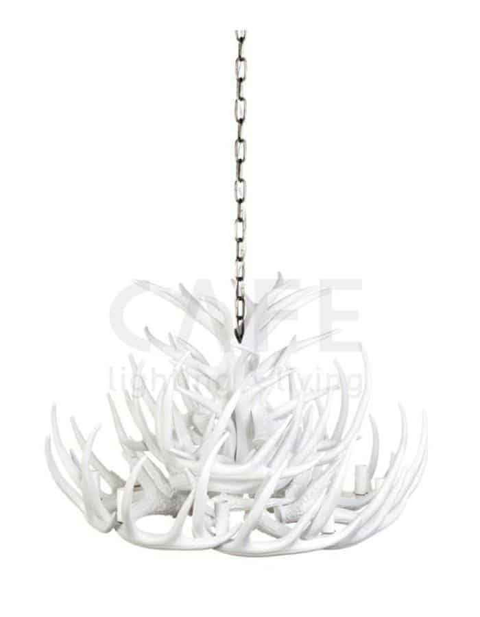Antler chandeliers chic chandeliers modern white antler chandelier tall 9 light mozeypictures Image collections