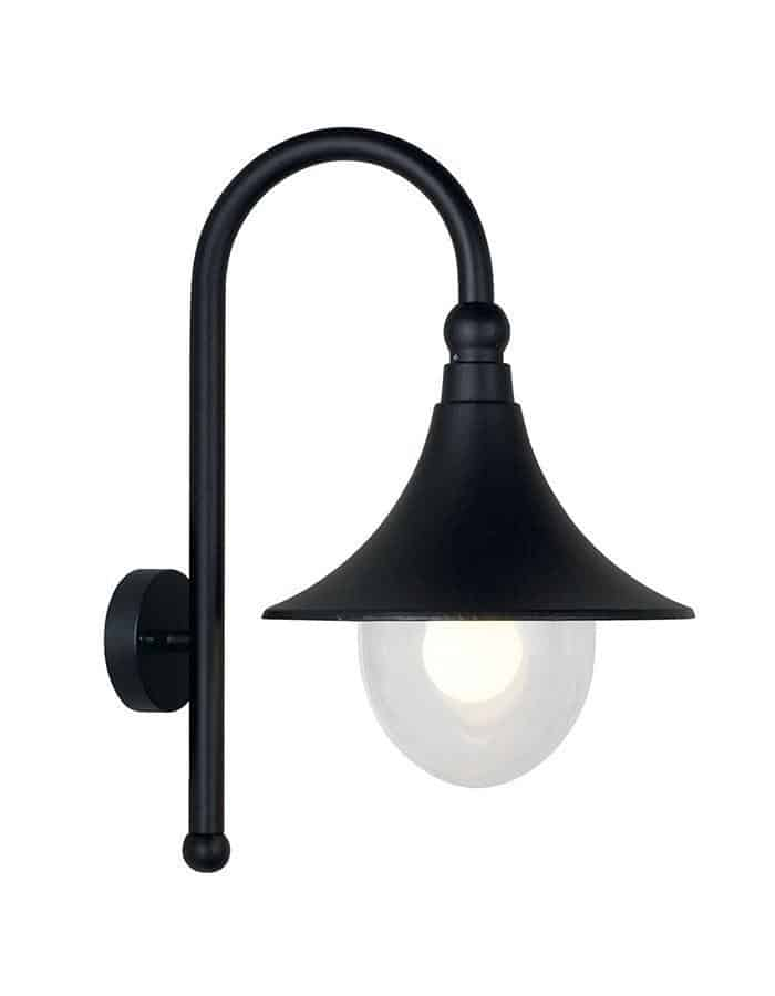 Outdoor - Jersey Black Outdoor Wall Light