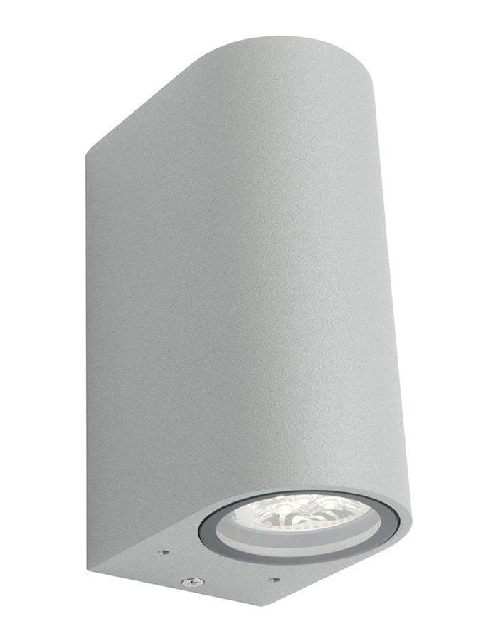 Outdoor Wall - Hanover Two Light Silver LED Outdoor Wall Light