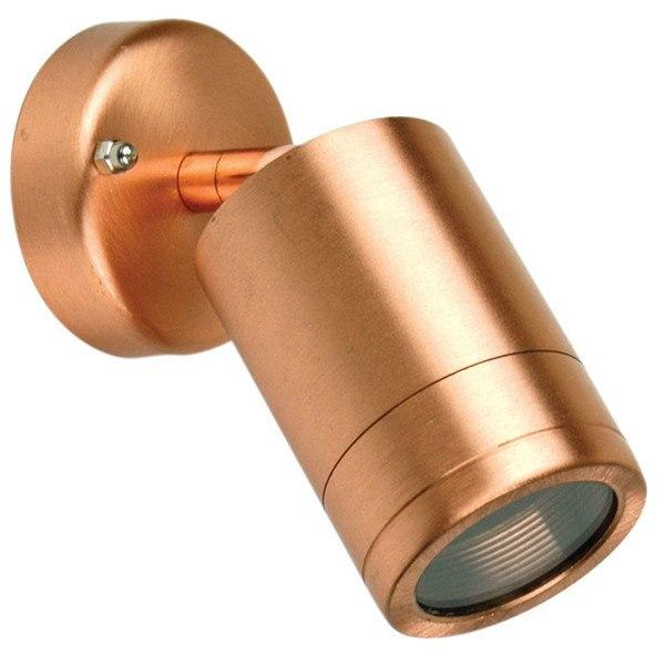 Outdoor Wall Light - Accent Adjustable Copper Outdoor Wall Light