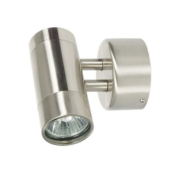 Outdoor Wall Light - Comma Brushed Chrome Outdoor Wall Light
