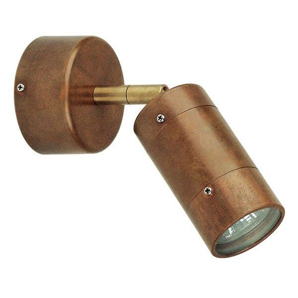 Outdoor Wall Light - Comma Copper Adjustable Outdoor Wall Light