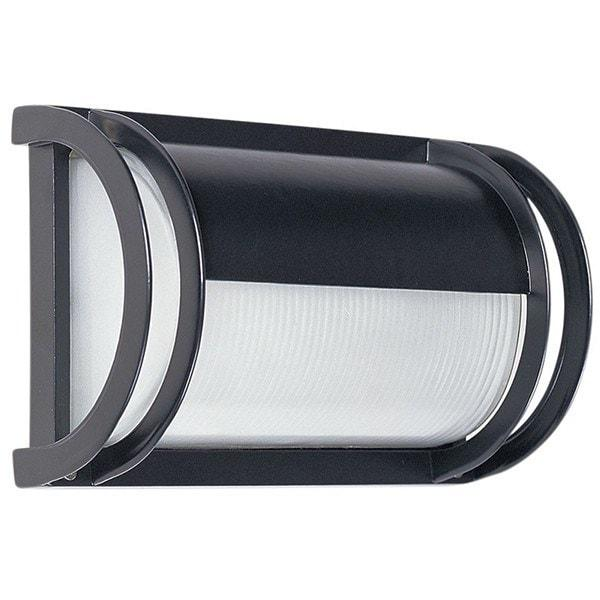 Outdoor Wall Light - Cylinder Black Outdoor Wall Light With Eyelid