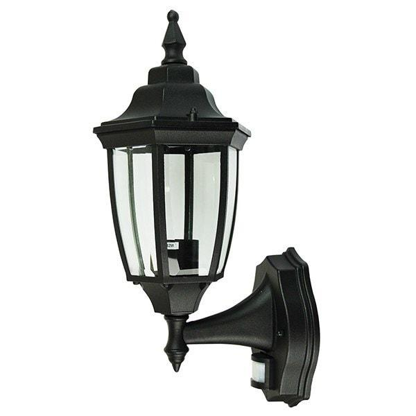 Outdoor Wall Light - Highgate Black Sensor Outdoor Wall Light