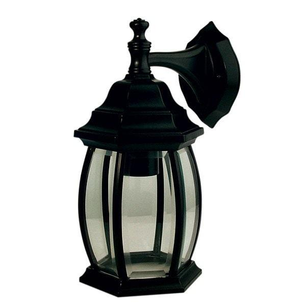 Outdoor Wall Light - Highgate Down Black Outdoor Wall Light
