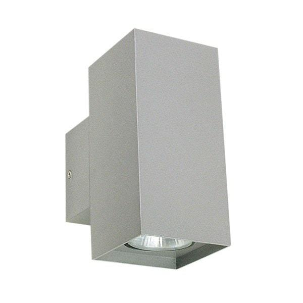 Outdoor Wall Light - Kobe Twin Silver Outdoor Wall Light