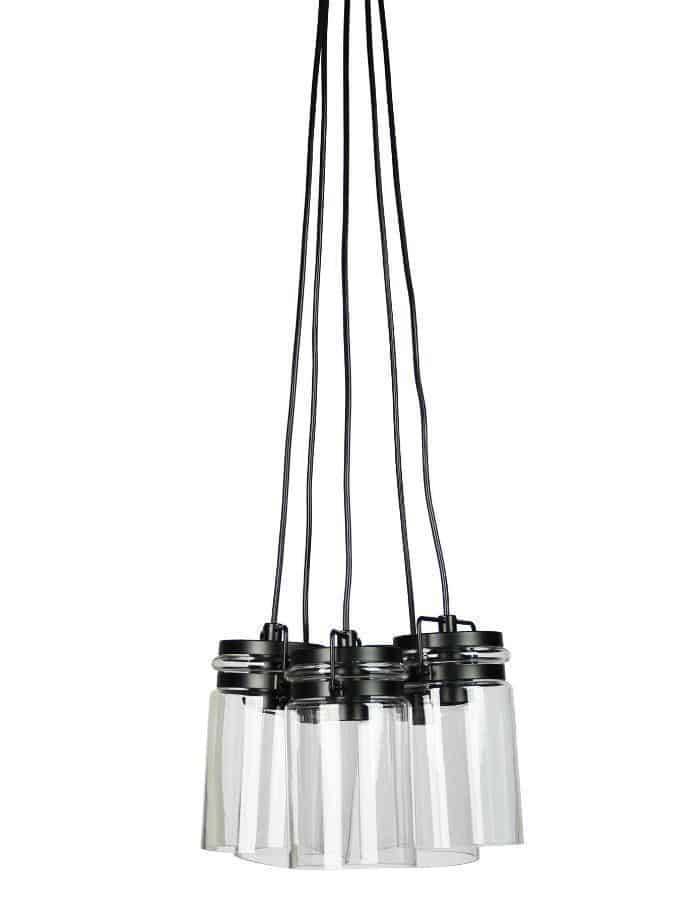 Pendant - Agar Glass Jar Cluster Pendant Light