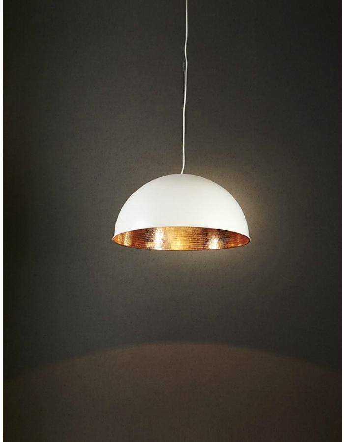 Pendant - Alfresco White And Copper Pendant Light