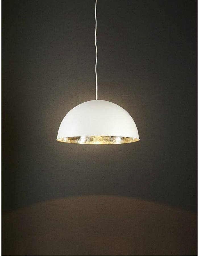 Pendant - Alfresco White And Silver Pendant Light
