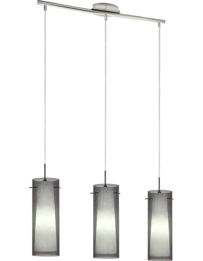Pendant - Amore Triple Smoke Glass Pendant Light