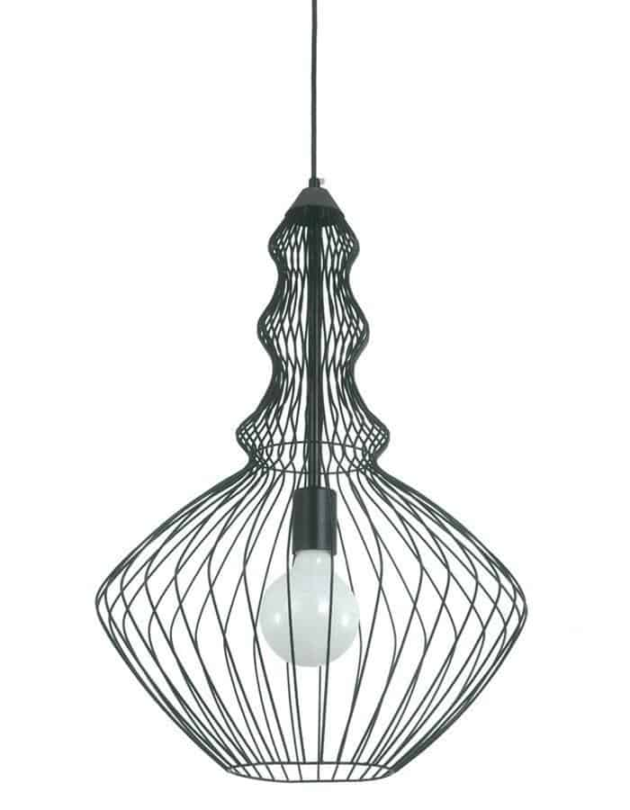 Pendant - Argo Black Cage Pendant Light