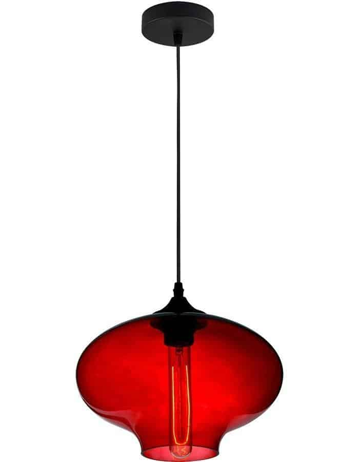 Pendant - Aria Red Glass Pendant Light