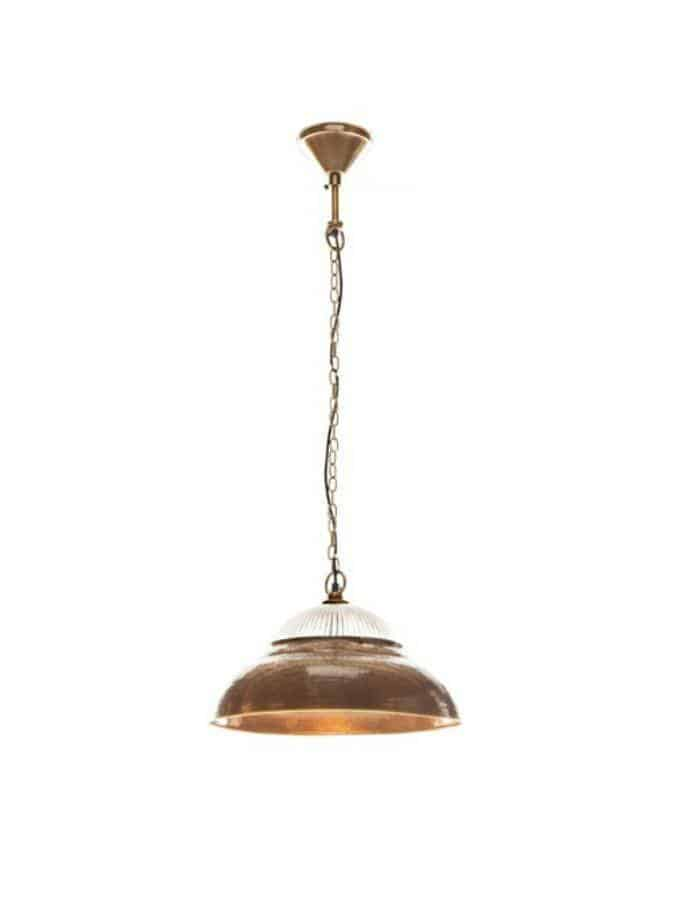 Pendant - Atrium Beaten Brass Pendant Light
